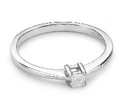 """Помолвочное кольцо с Aлмазом """"Принцесса 21"""""""