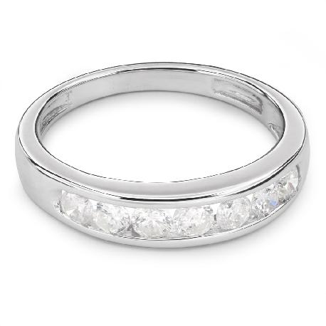 """Золотое кольцо с Бриллиантами """"Алмазная полоска 24"""""""