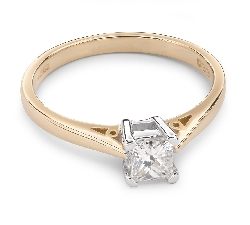 """Помолвочное кольцо с Aлмазом """"Принцесса 22"""""""