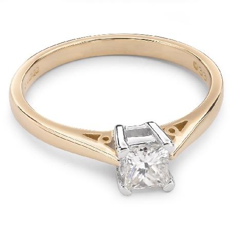 """Saderināšanās gredzens ar Dimantu """"Princese 22"""""""