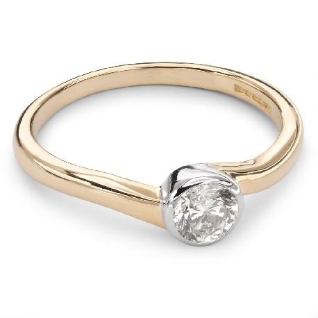 """Помолвочное кольцо с Бриллиантом """"Объятная 20"""""""