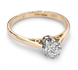 """Помолвочное кольцо с Бриллиантом """"Единственная 65"""""""
