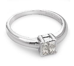 """Помолвочное кольцо с алмазами """"Принцессы 36"""""""