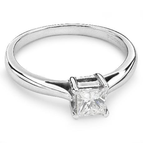 """Помолвочное кольцо с Aлмазом """"Принцесса 23"""""""