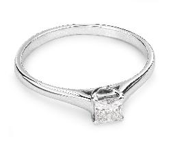 """Saderināšanās gredzens ar Dimantu """"Princese 25"""""""