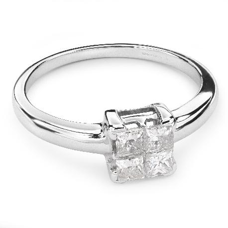 """Помолвочное кольцо с алмазами """"Принцессы 37"""""""
