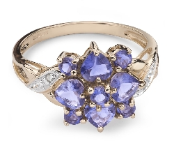 """Zelta gredzens ar dārgakmeņiem """"Krāsas 29"""""""