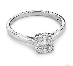 """Помолвочное кольцо с Бриллиантами  """"Бриллиантовый букет 28"""""""