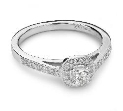 """Saderināšanās gredzens ar Dimantiem """"Kronis 15"""""""