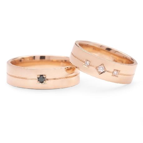 """Laulību gredzeni ar dimantiem """"VMA 136-2"""""""
