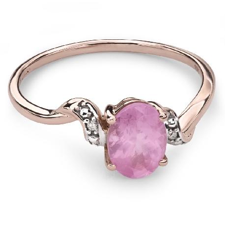 """Золотое кольцо с драгоценными камнями """"Краски 31"""""""