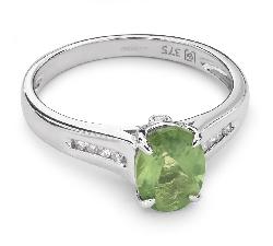 """Zelta gredzens ar dārgakmeņiem """"Krāsas 32"""""""