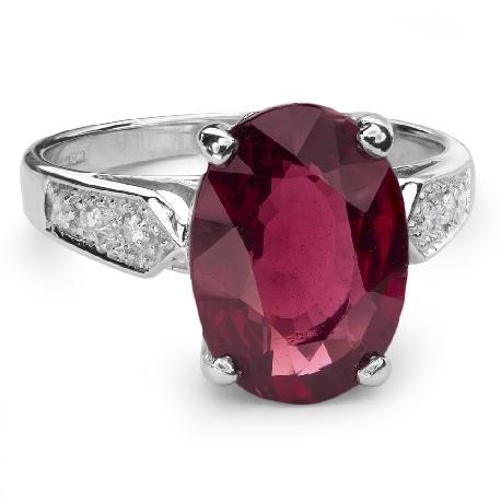 """Золотое кольцо с драгоценными камнями """"Краски 33"""""""