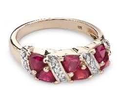 """Zelta gredzens ar dārgakmeņiem """" Krāsas 54"""""""