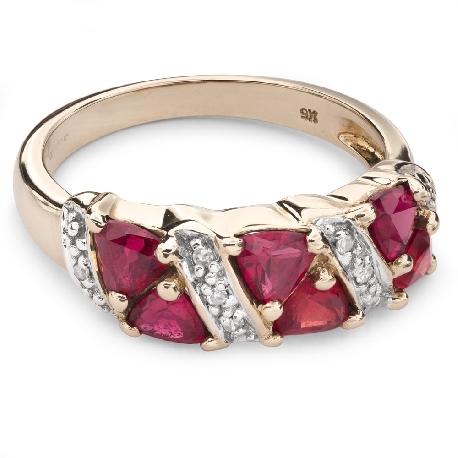 """Золотое кольцо с драгоценными камнями """"Краски 54"""""""
