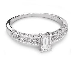 """Saderināšanās gredzens ar Dimantiem """"Kronis 16"""""""