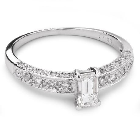 """Помолвочное кольцо с алмазами """"Корона 16"""""""