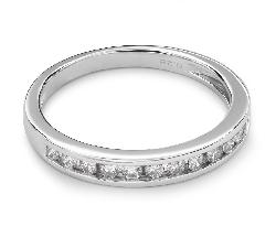 """Золотое кольцо с Бриллиантами """"Алмазная полоска 27"""""""