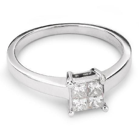 """Saderināšanās gredzens ar Dimantiem """"Princeses 38"""""""