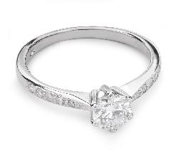 """Помолвочное кольцо с Бриллиантами """"Грациозность 66"""""""