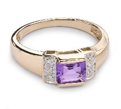 """Zelta gredzens ar dārgakmeņiem """"Krāsas 35"""""""