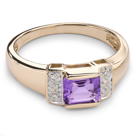"""Золотое кольцо с драгоценными камнями """"Краски 35"""""""