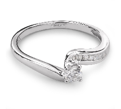 "Помолвочное кольцо с Бриллиантами ""Вихрь 12"""