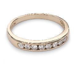 """Золотое кольцо с Бриллиантами """"Алмазная полоска 28"""""""
