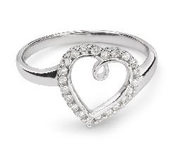 """Zelta gredzens ar Briljantiem """"Mīlestības apskāvienos 45"""""""