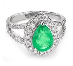 """Золотое кольцо с драгоценными камнями """"Корона 17"""""""