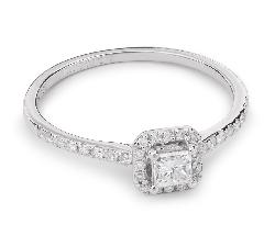 """Помолвочное кольцо с Aлмазами """"Принцесса 28"""""""