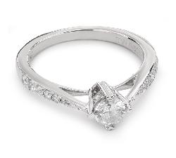 """Золотое кольцо с Бриллиантами """"Грациозность 72"""""""