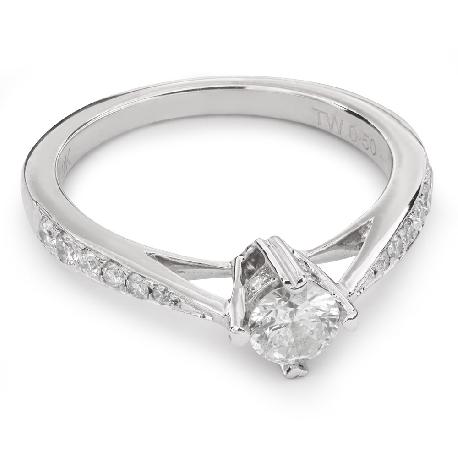 """Помолвочное кольцо с Бриллиантами """"Грациозность 72"""""""