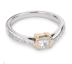 """Помолвочное кольцо с алмазами """"Принцесса 31"""""""