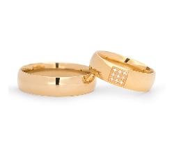 """Zelta Laulību gredzeni ar Briljantiem """"VKA139"""""""