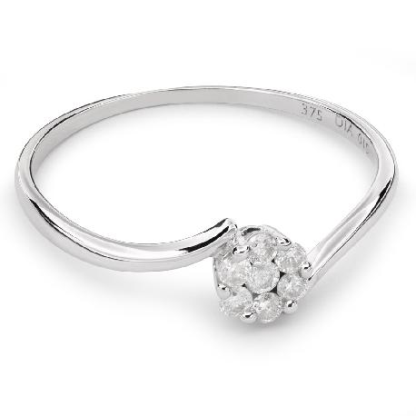 """Золотое кольцо с Aлмазами """"Бриллиантовый цветок 25"""""""