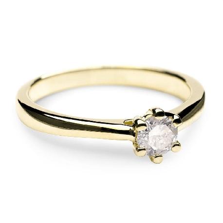 """Помолвочное кольцо с Бриллиантом """"Королева сердца 4"""""""