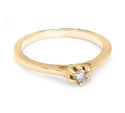 """Помолвочное кольцо с Бриллиантом """"Королева сердца 19"""""""