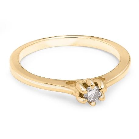 """Saderināšanās gredzens ar Briljantu """"Sirds karaliene 19"""""""