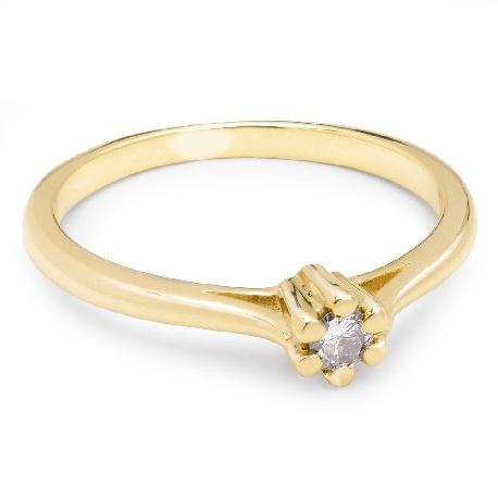 """Помолвочное кольцо с Бриллиантом """"Чистая 25"""""""