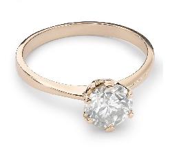 """Помолвочное кольцо с Бриллиантом """"Незабываемый 12"""""""