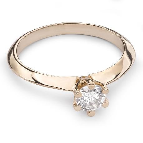 """Помолвочное кольцо с Бриллиантом """"Королева 20"""""""
