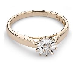 """Saderināšanās gredzens ar Dimantiem """"Ziediņš 4"""""""