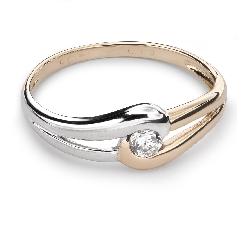 """Zelta gredzens ar Briljantu """"Mīlestības apskāvienos 16"""""""