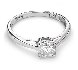 """Помолвочное кольцо с Бриллиантом """"Прочность 74"""""""