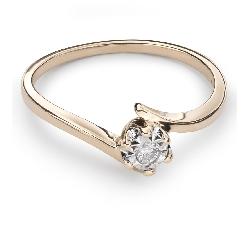 """Saderināšanās gredzens ar Dimantu """"Mīlestības apskāvienos 17"""""""