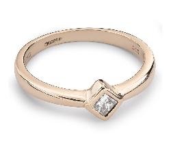 """Золотое кольцо с Aлмазом """"Принцесса 35"""""""