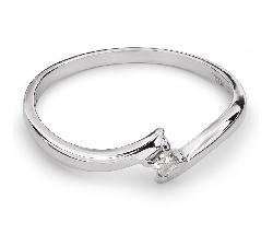 """Помолвочное кольцо с Aлмазом """"В объятиях любви 18"""""""