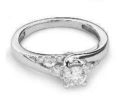 """Золотое кольцо с Бриллиантами """"Грациозность 76"""""""