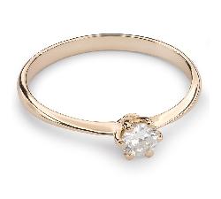 """Помолвочное кольцо с Бриллиантом """"Принцесса 21"""""""